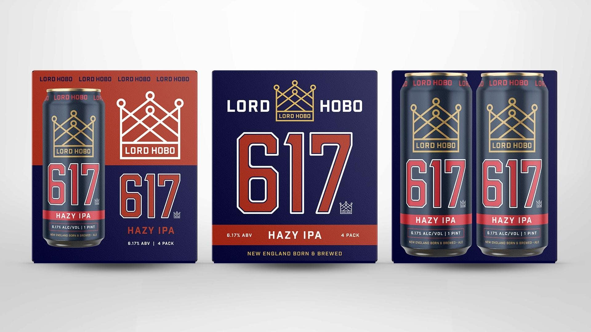 Lord Hobo Brewing 617 Packaging Design - Unsung Studio Branding