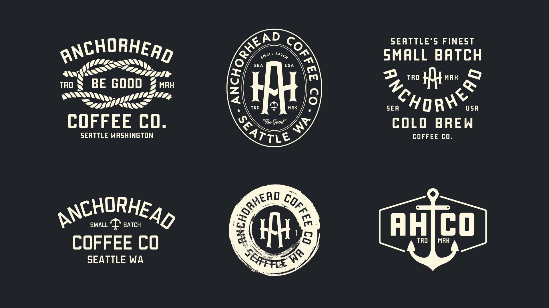 Anchorhead Coffee Shirt Designs - Unsung Studio Branding