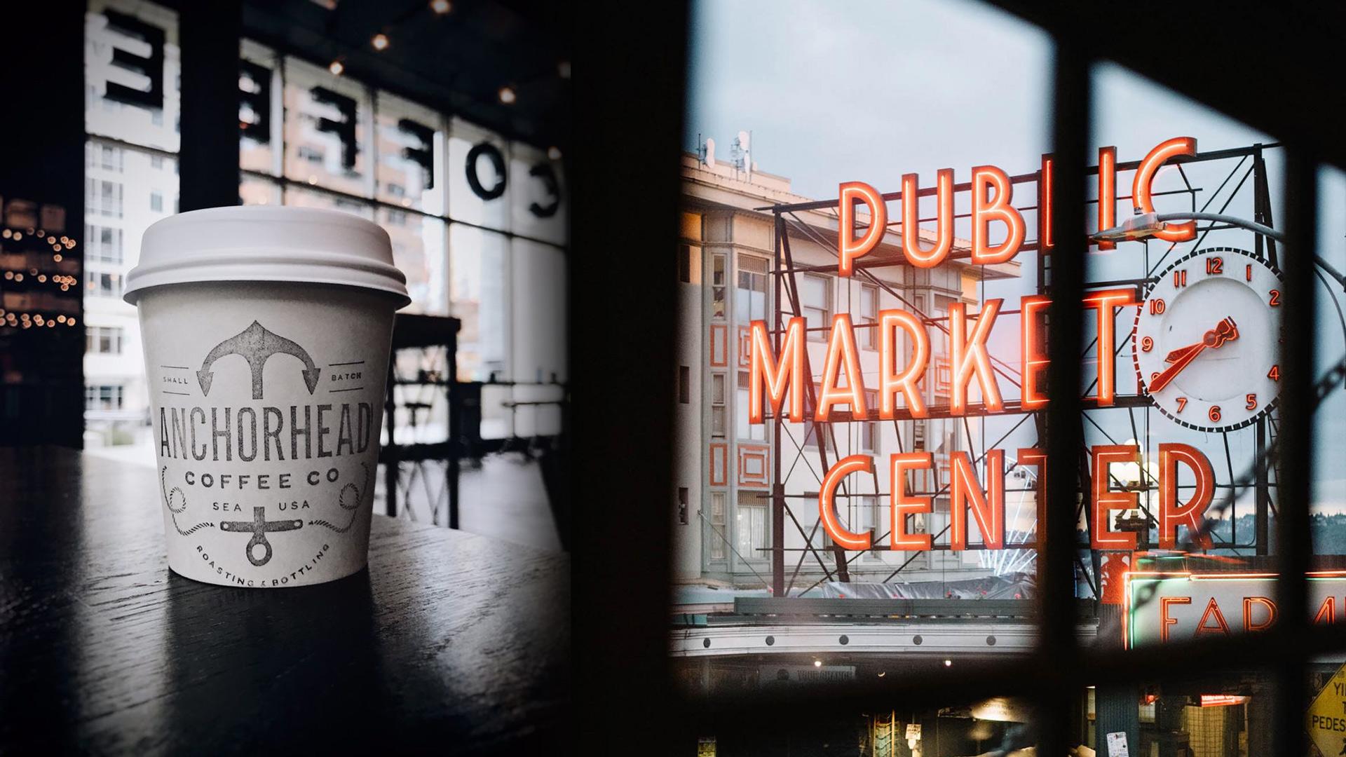 Anchorhead Coffee Seattle Pike Place Market - Unsung Studio Branding