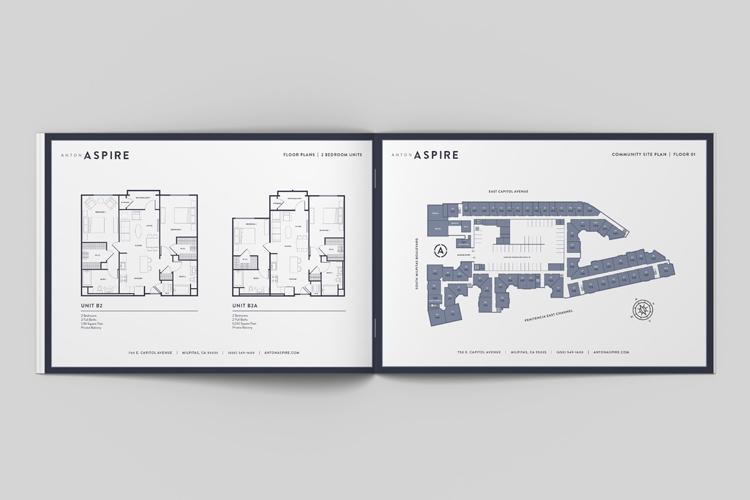 Anton Aspire Floor Plan Site Plan - Unsung Studio Branding