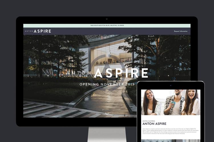 Anton Aspire Website Design - Unsung Studio Web Design
