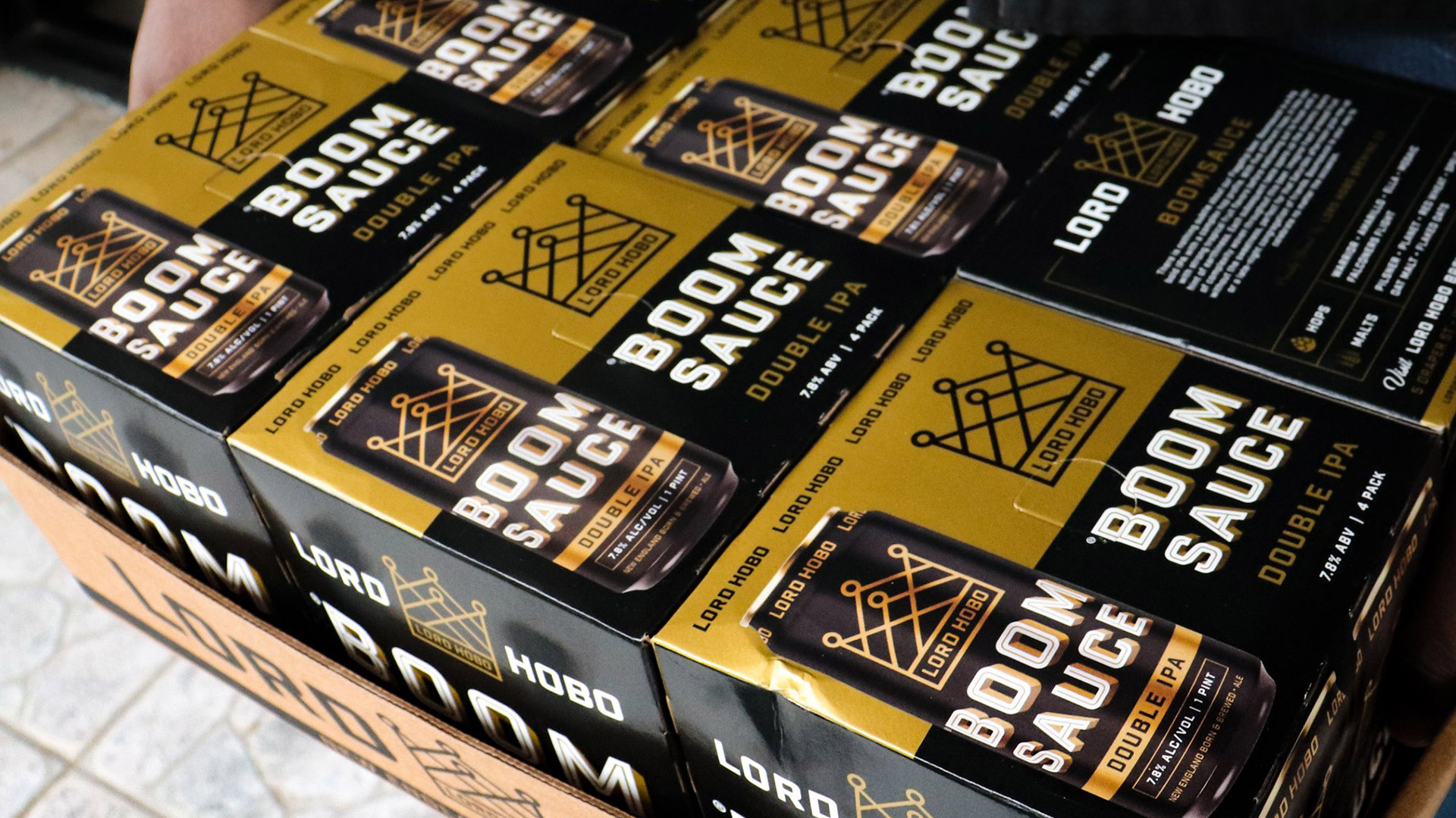 Lord Hobo Brewing Boomsauce Package Design - Unsung Studio Branding