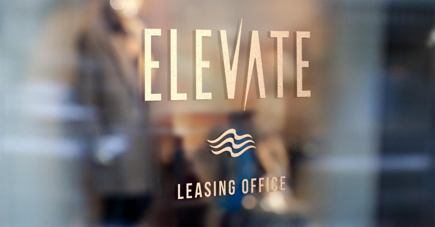 Anton Elevate Leasing Office Signage - Unsung Studio Branding