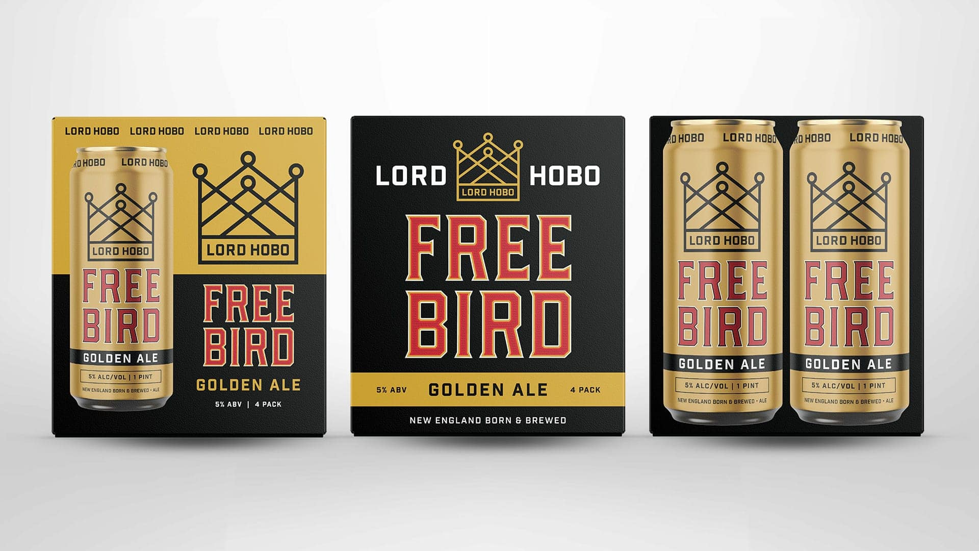 Lord Hobo Brewing Freebird Ale - Unsung Studio Branding