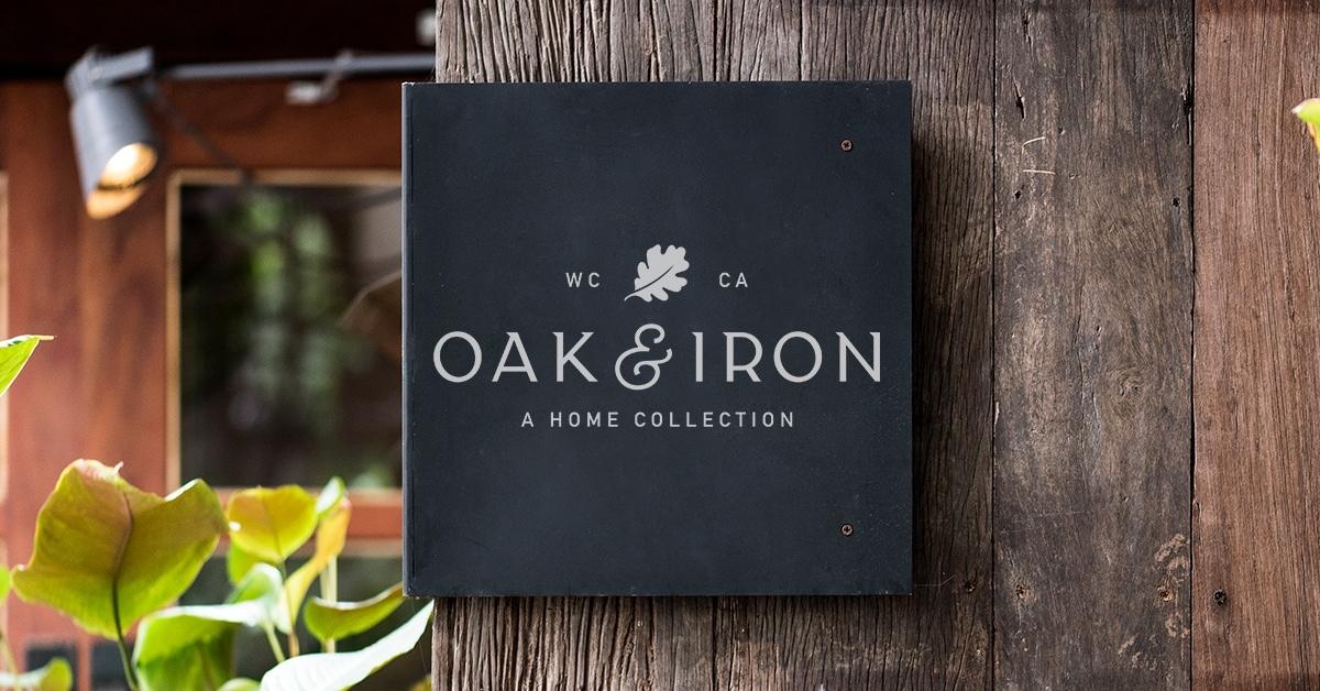 Oak & Iron Signage Concept - Unsung Studio Branding
