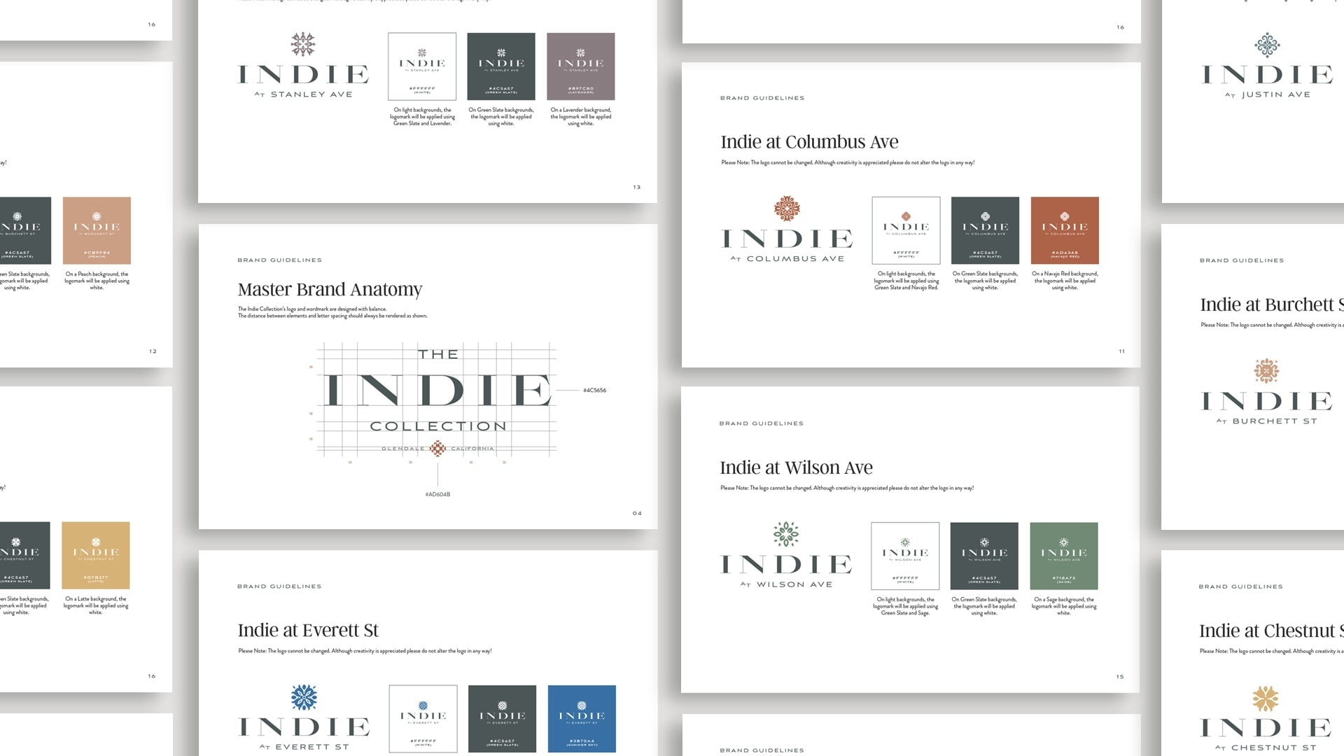 The Indie Collection Brand Guide - Unsung Studio Branding