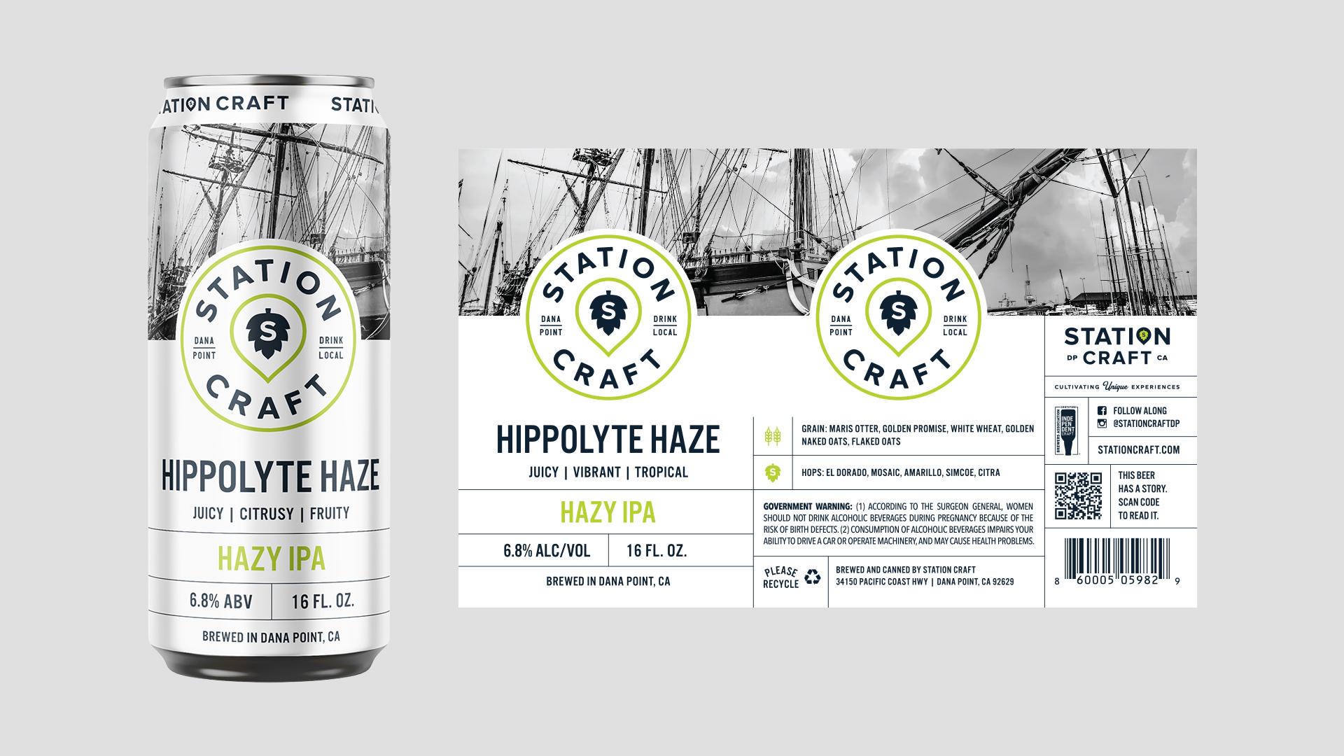 Station Craft Hippolyte Haze Can Design - Unsung Studio Branding