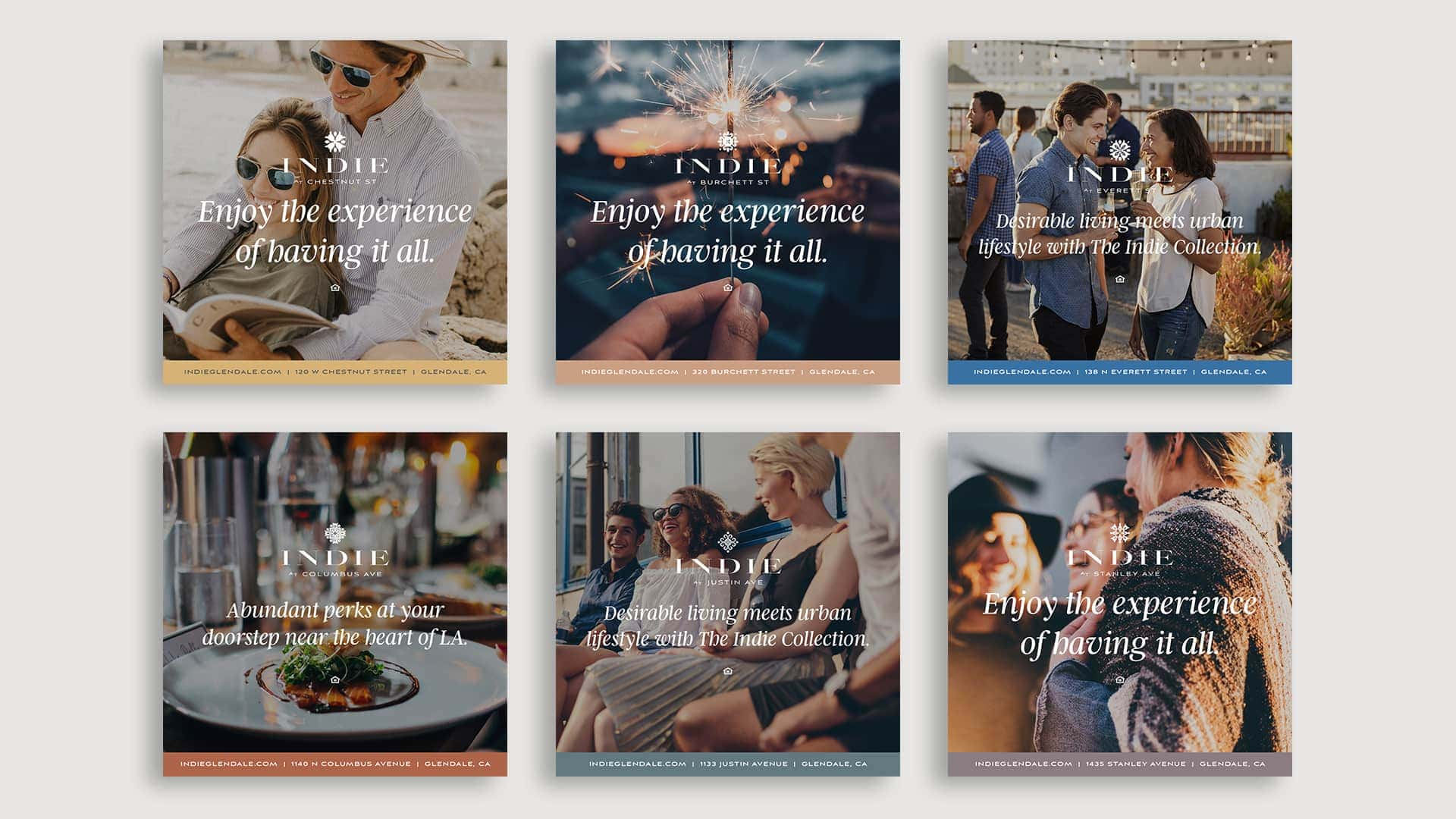 The Indie Collection Social Media Posts - Unsung Studio Branding