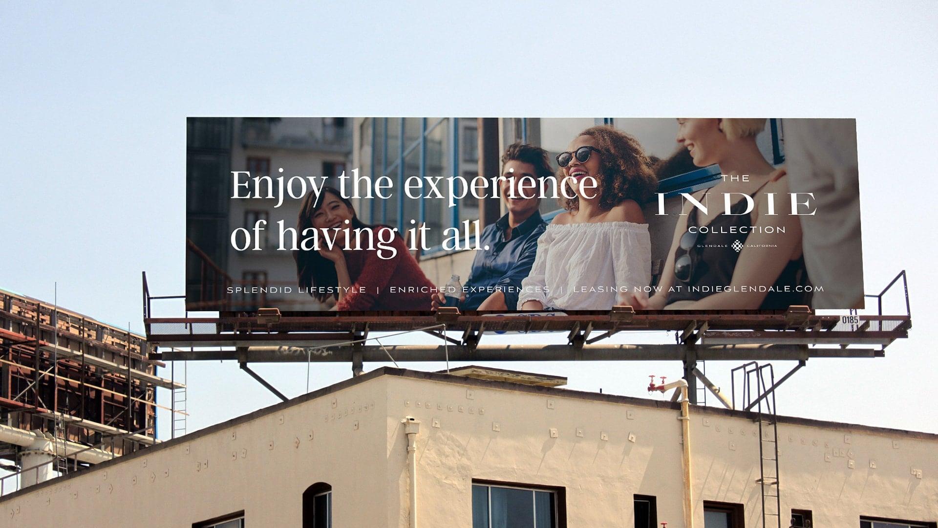 The Indie Collection Billboard - Unsung Studio Branding