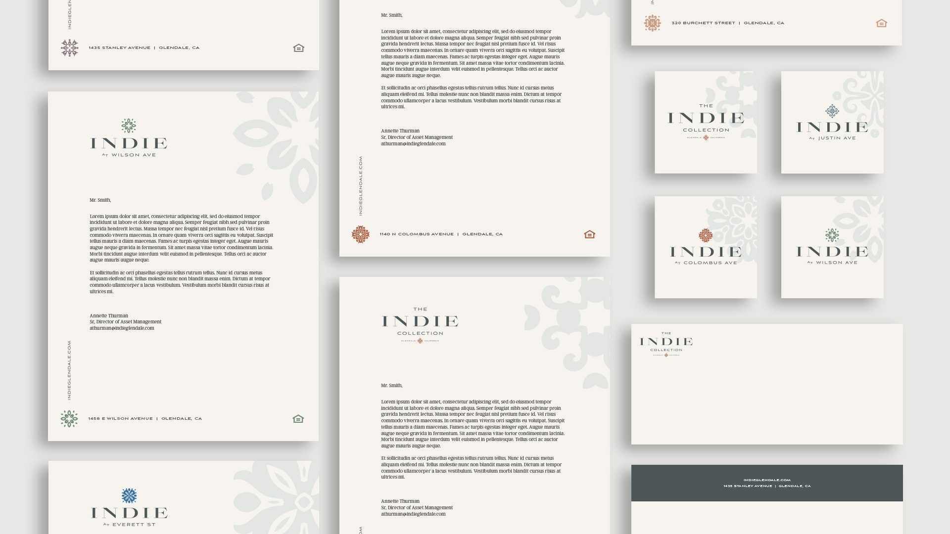 The Indie Collection Stationery - Unsung Studio Branding