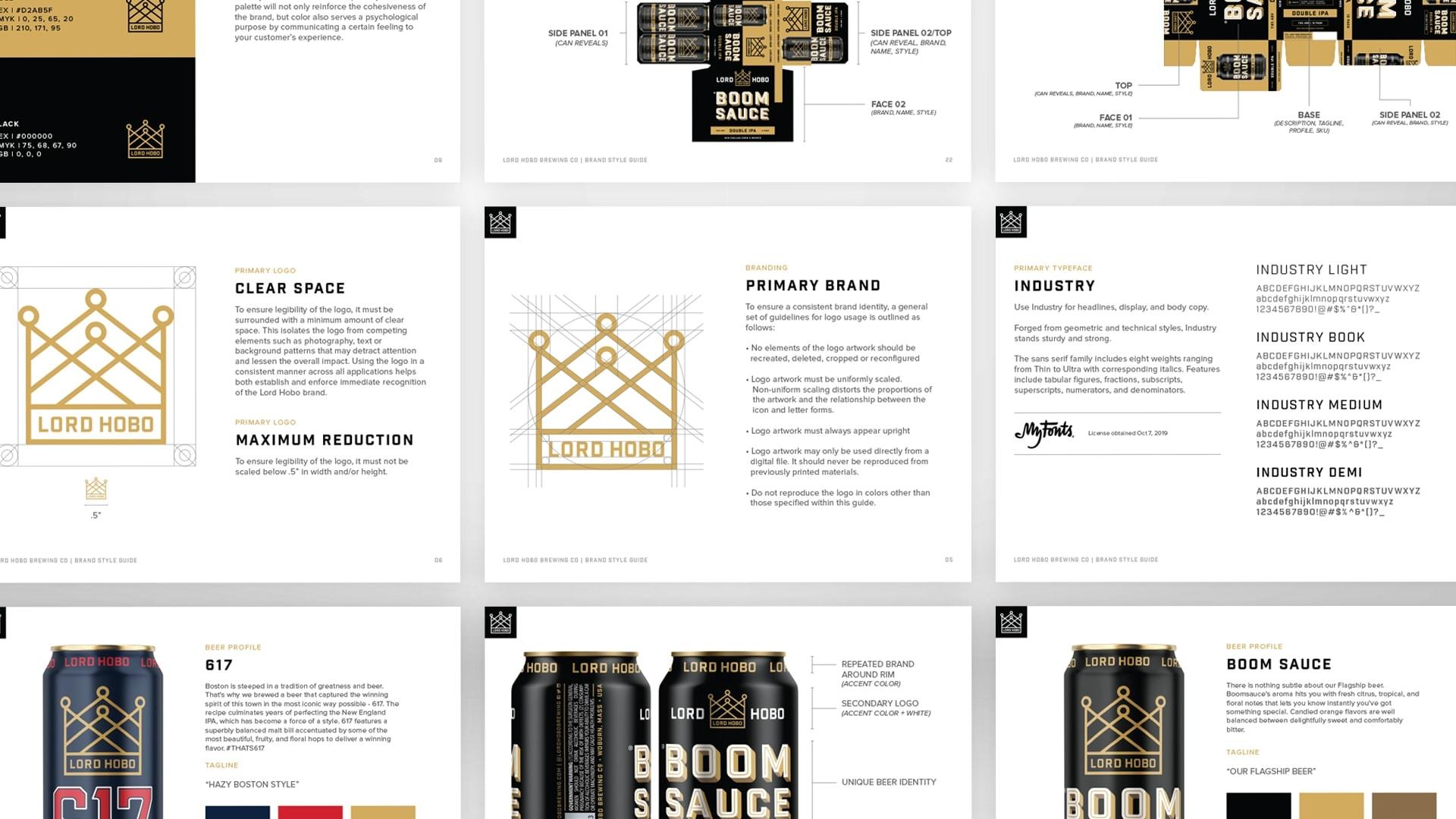Lord Hobo Brewing Brand Guidelines - Unsung Studio Branding