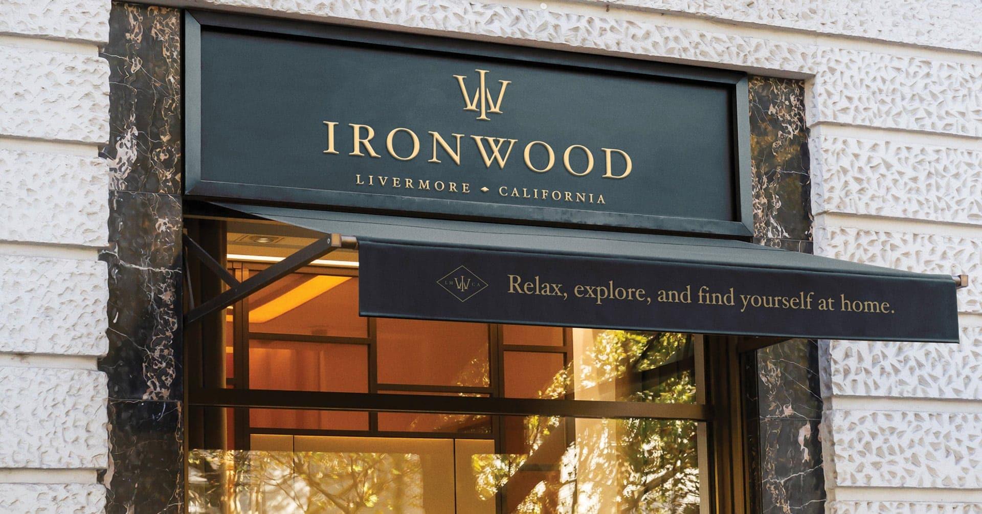 Ironwood Leasing Office Signage - Unsung Studio Branding