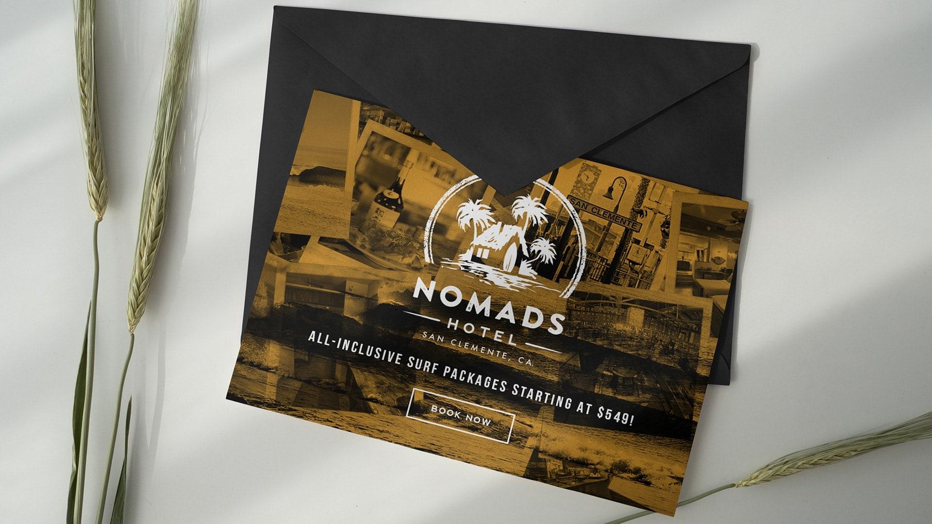 Nomads Hotel Postcard - Unsung Studio Branding
