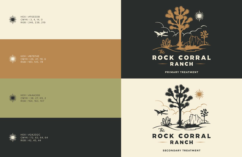 The Rock Corral Logo - Unsung Studio Branding