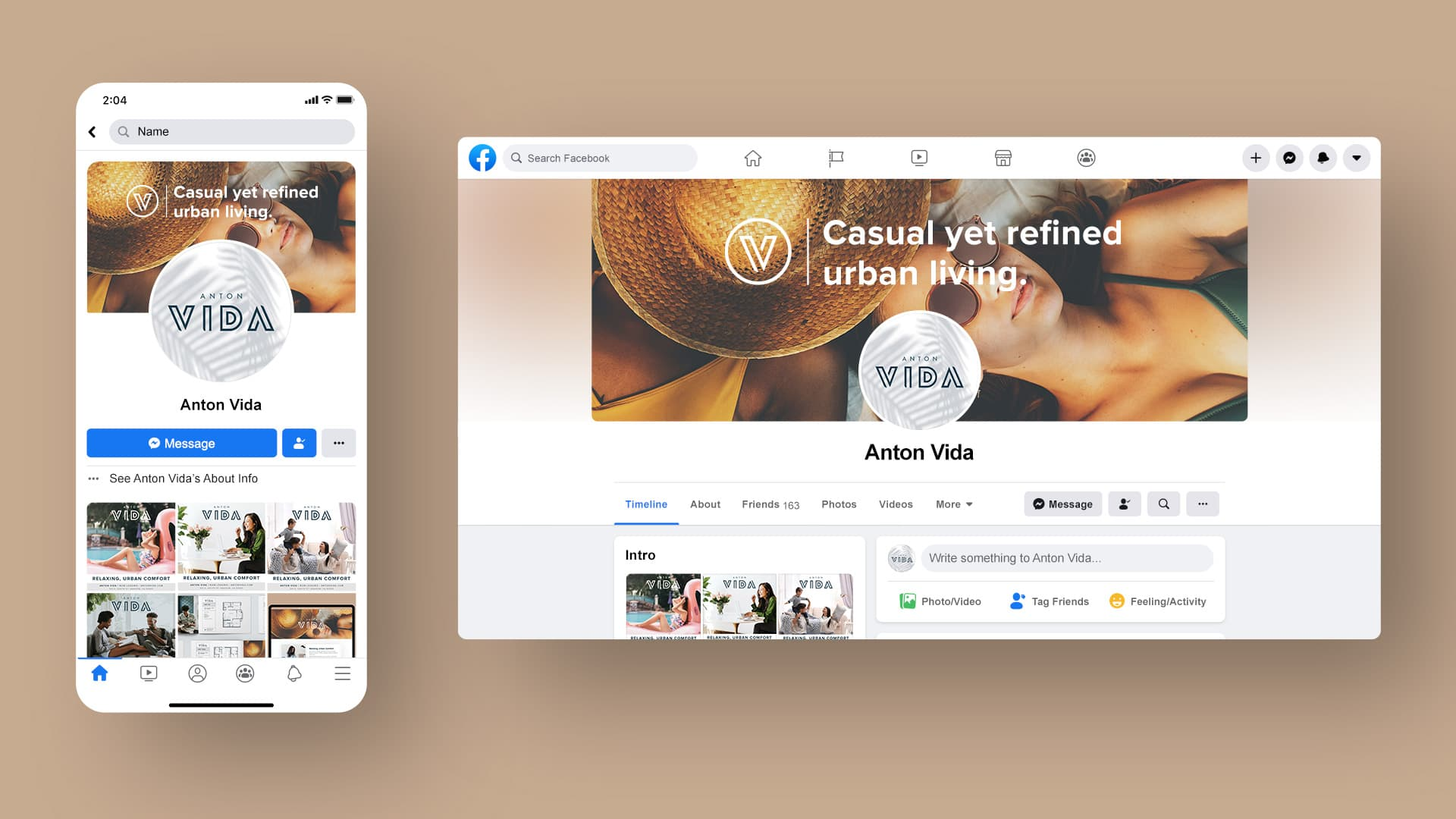 Anton Vida Social Media - Unsung Studio Branding