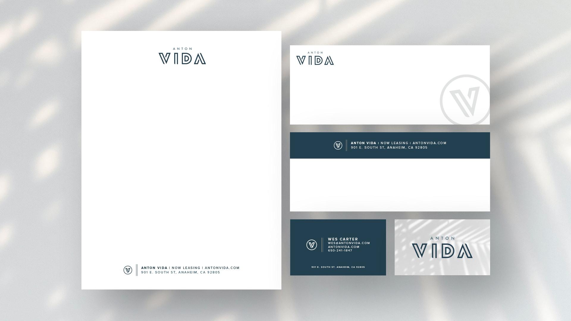 Anton Vida Stationery - Unsung Studio Branding