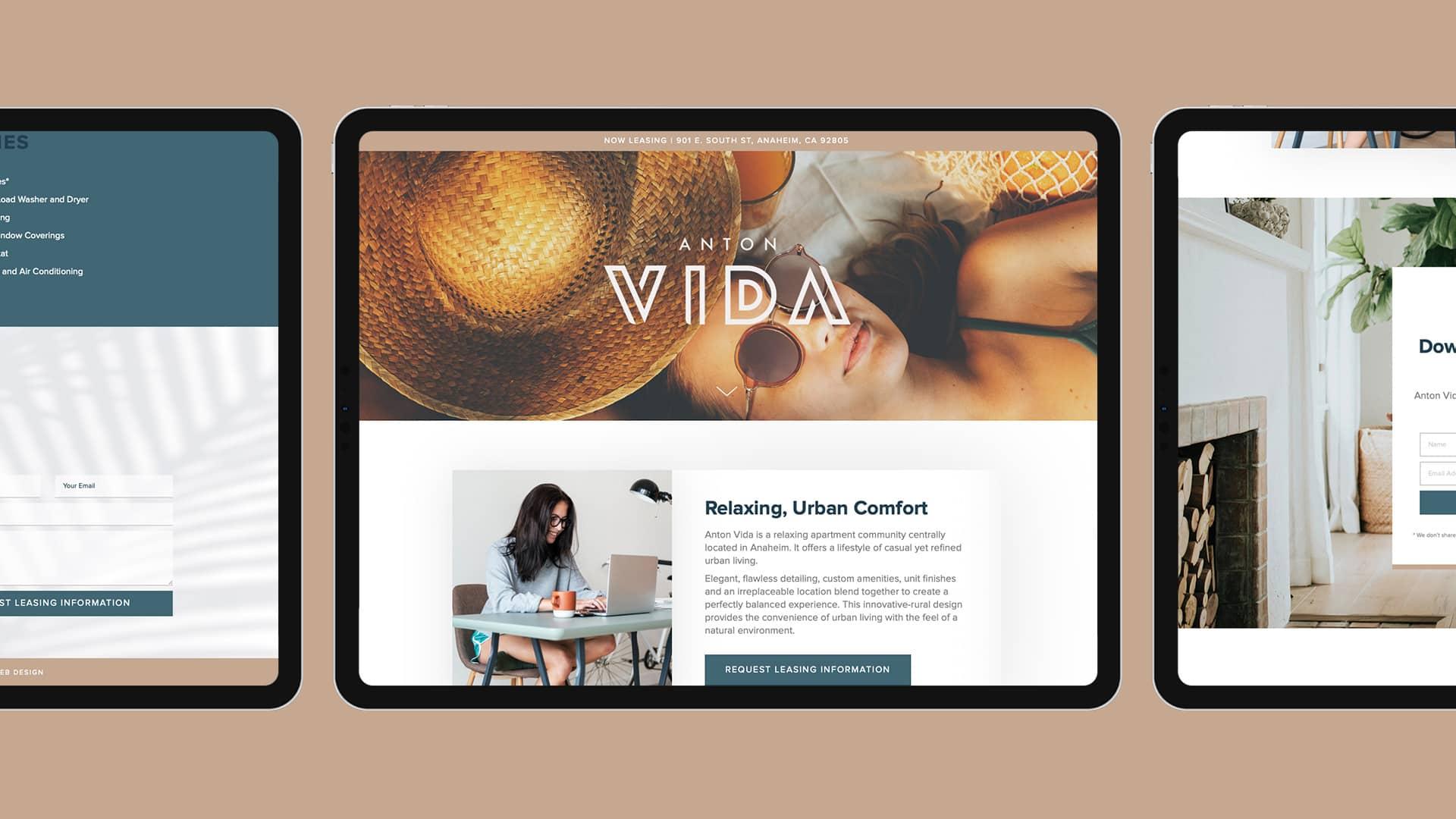 Anton Vida Website Design - Unsung Studio Web Design