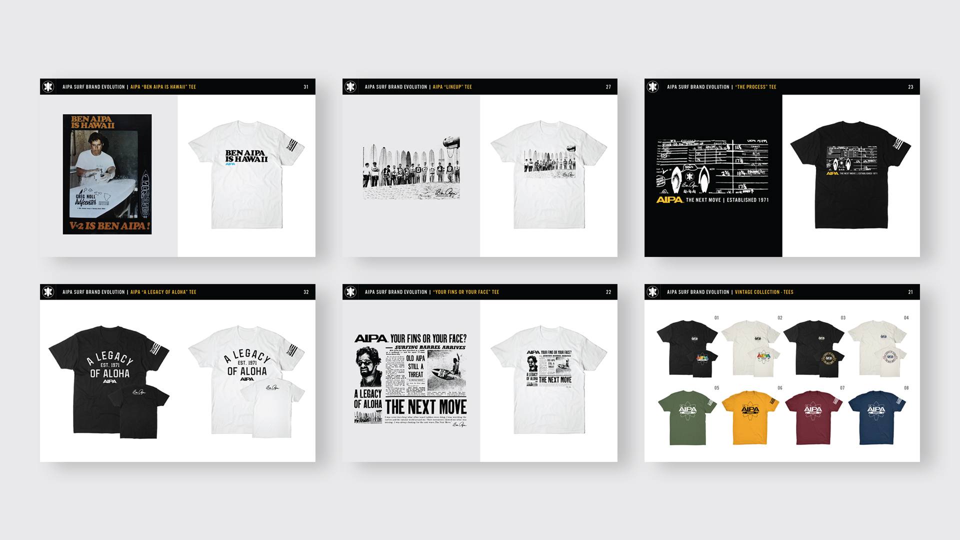 Aipa Surf Shirt Designs - Unsung Studio Branding