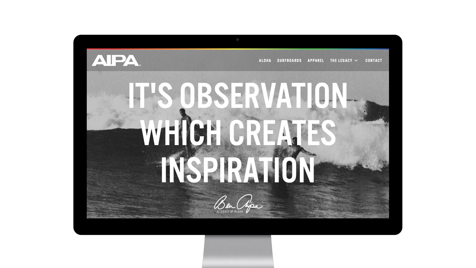 Aipa Surf Website - Unsung Studio Web Design