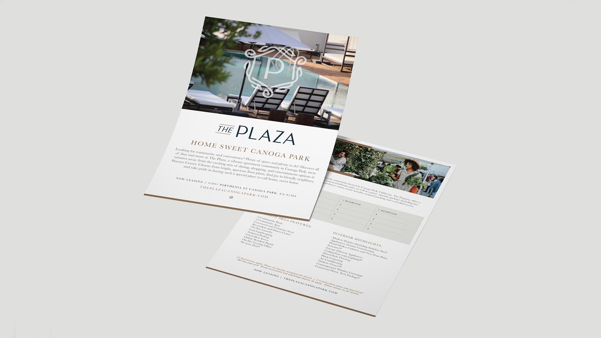 The Plaza Raintree Partners Info Sheet - Unsung Studio Branding