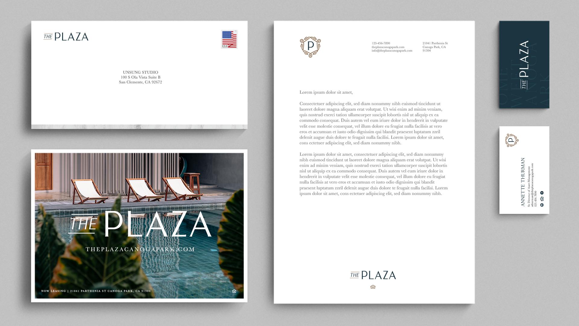 The Plaza Raintree Partners Stationery - Unsung Studio Branding