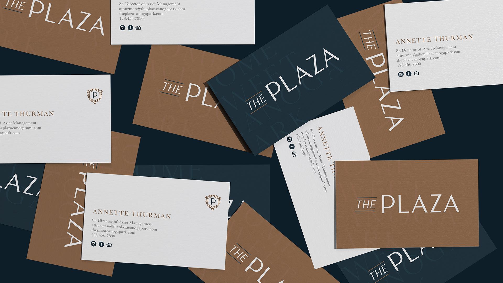 The Plaza Raintree Partners Business Cards - Unsung Studio Branding