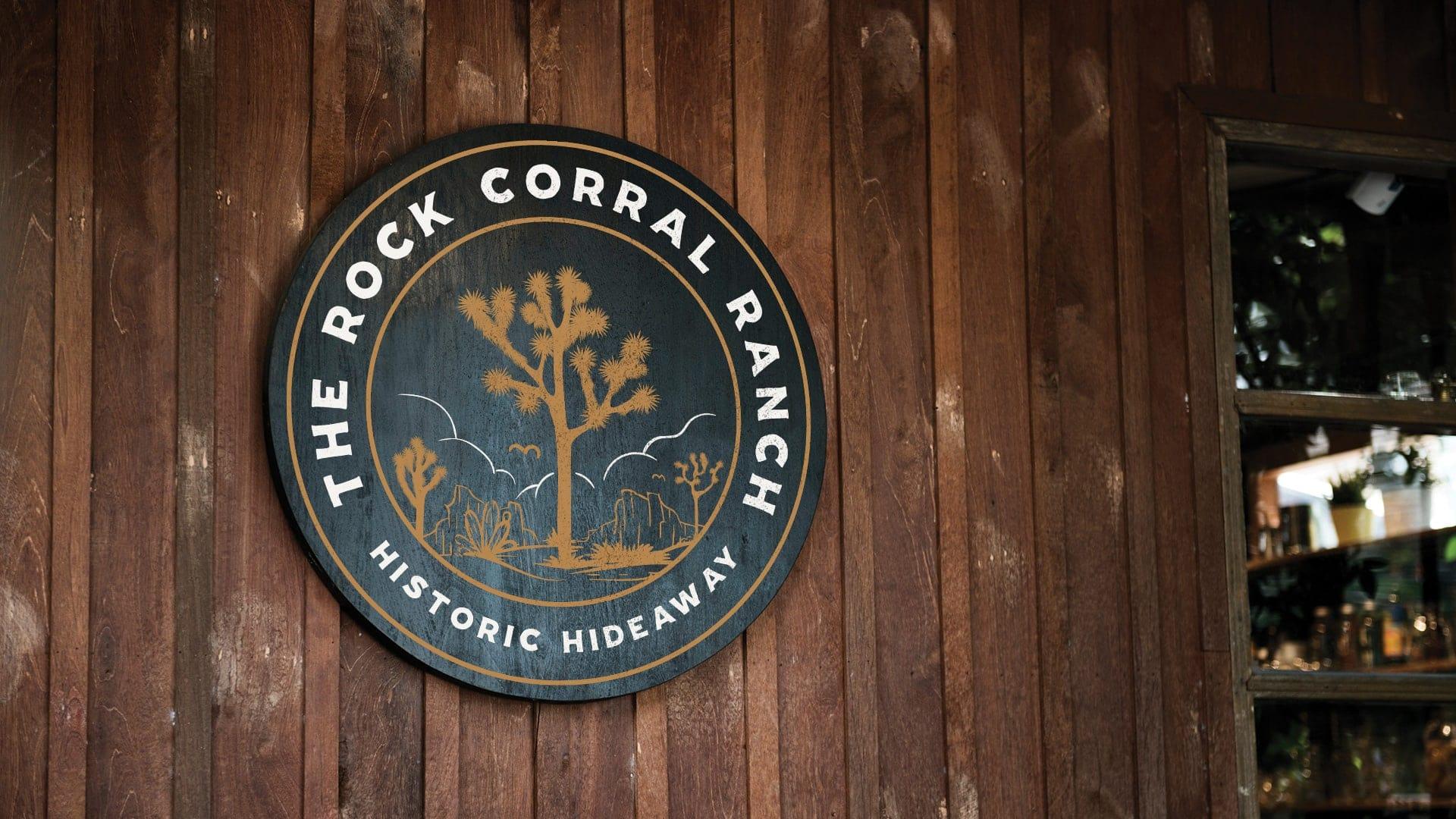 The Rock Corral Ranch Sign - Unsung Studio Branding