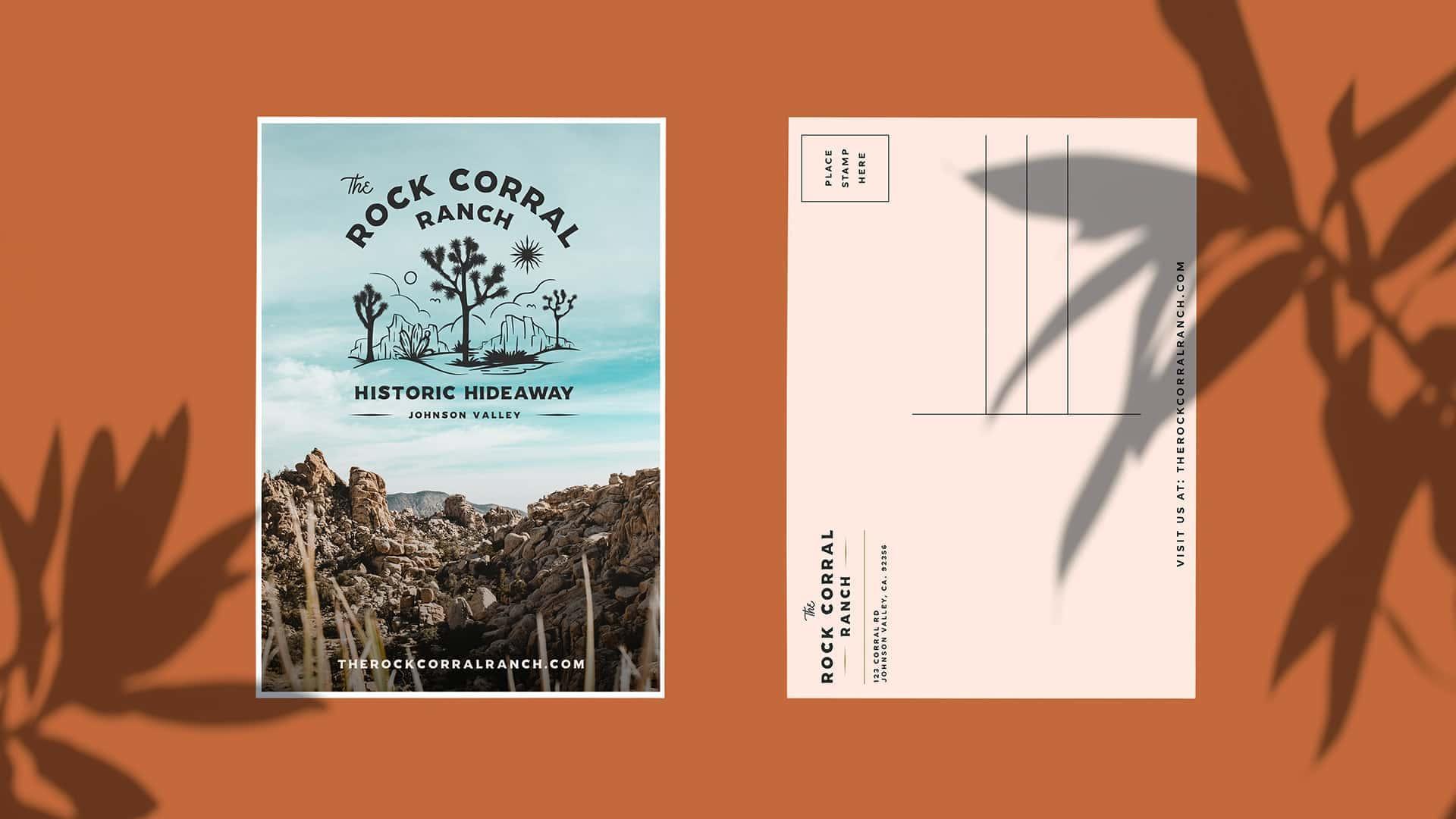 The Rock Corral Ranch Postcard - Unsung Studio Branding