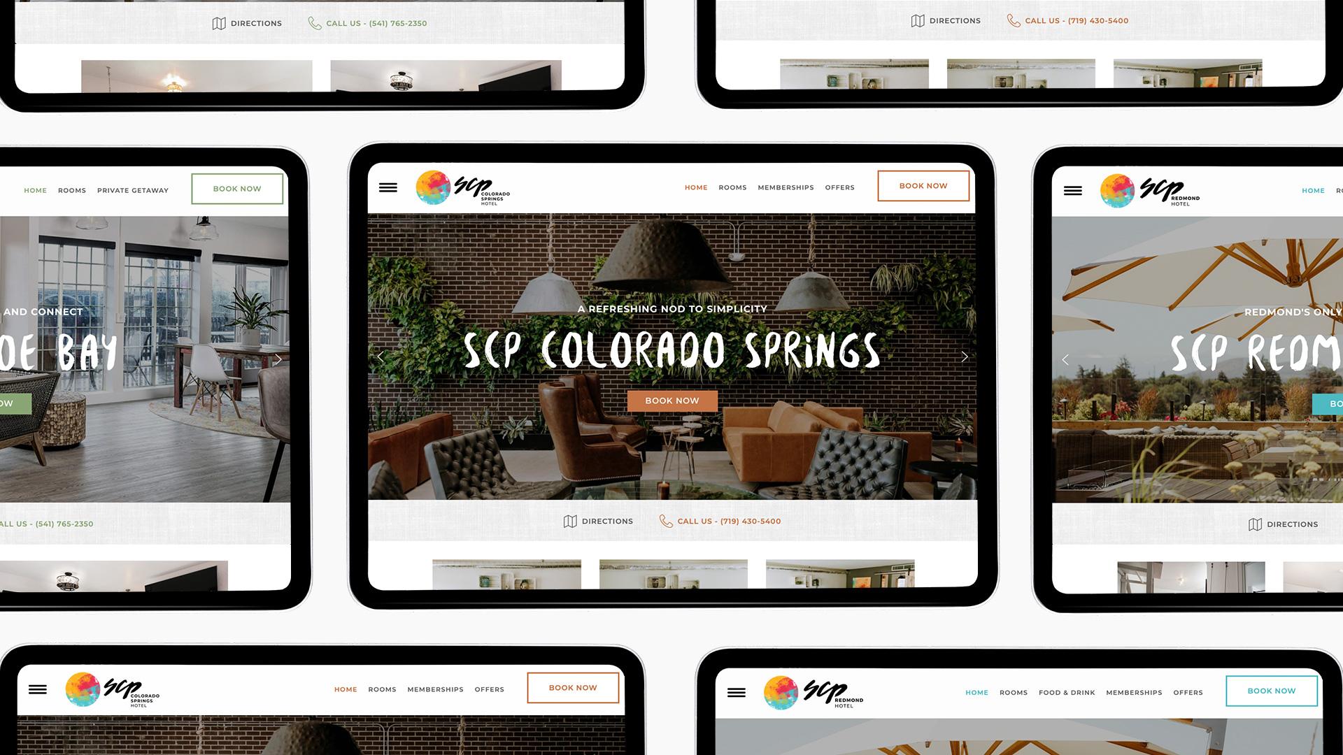 SCP Hotel Website - Unsung Studio Web Design