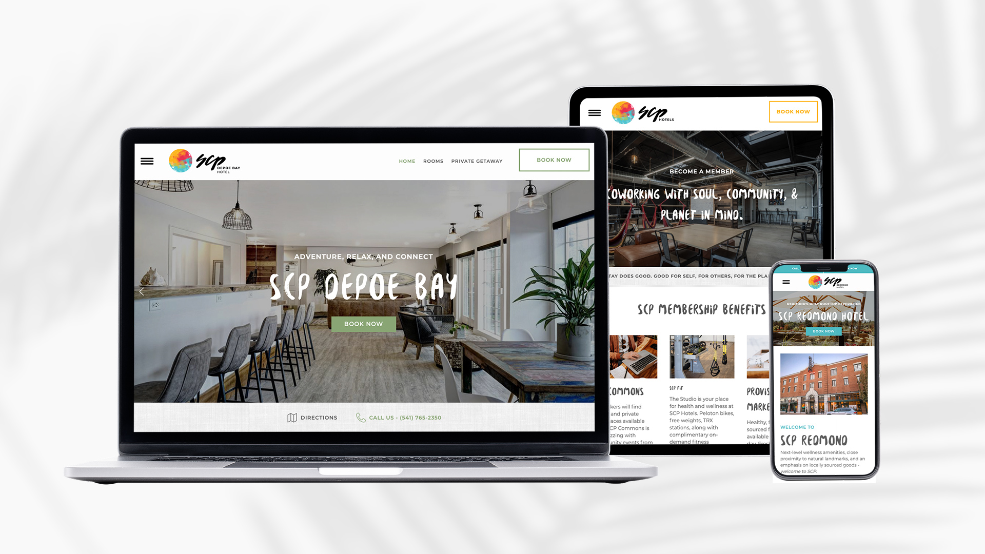 SCP Hotel Website Design - Unsung Studio Web Design
