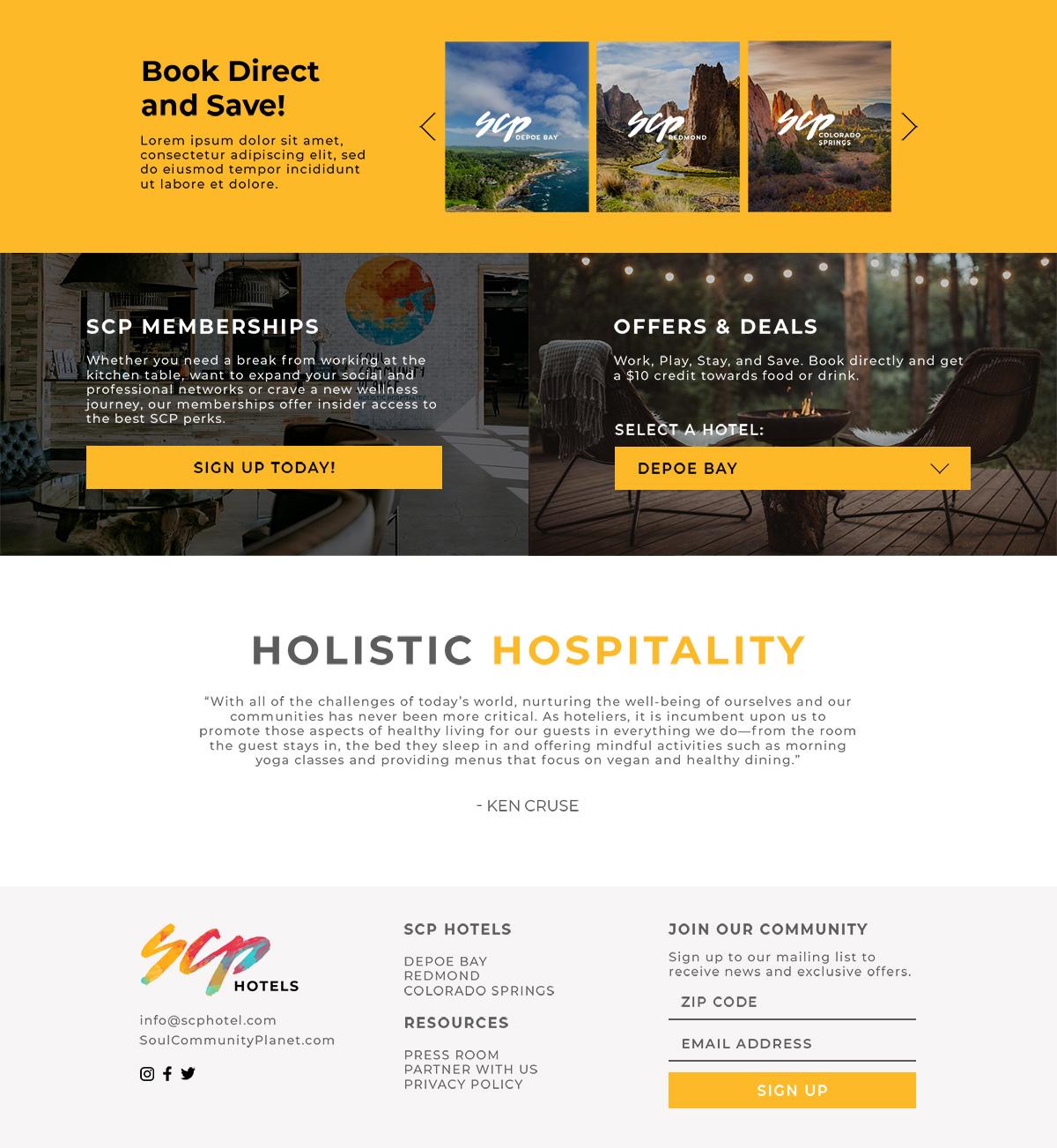 Soul Community Planet Website Design - Unsung Studio Web Design