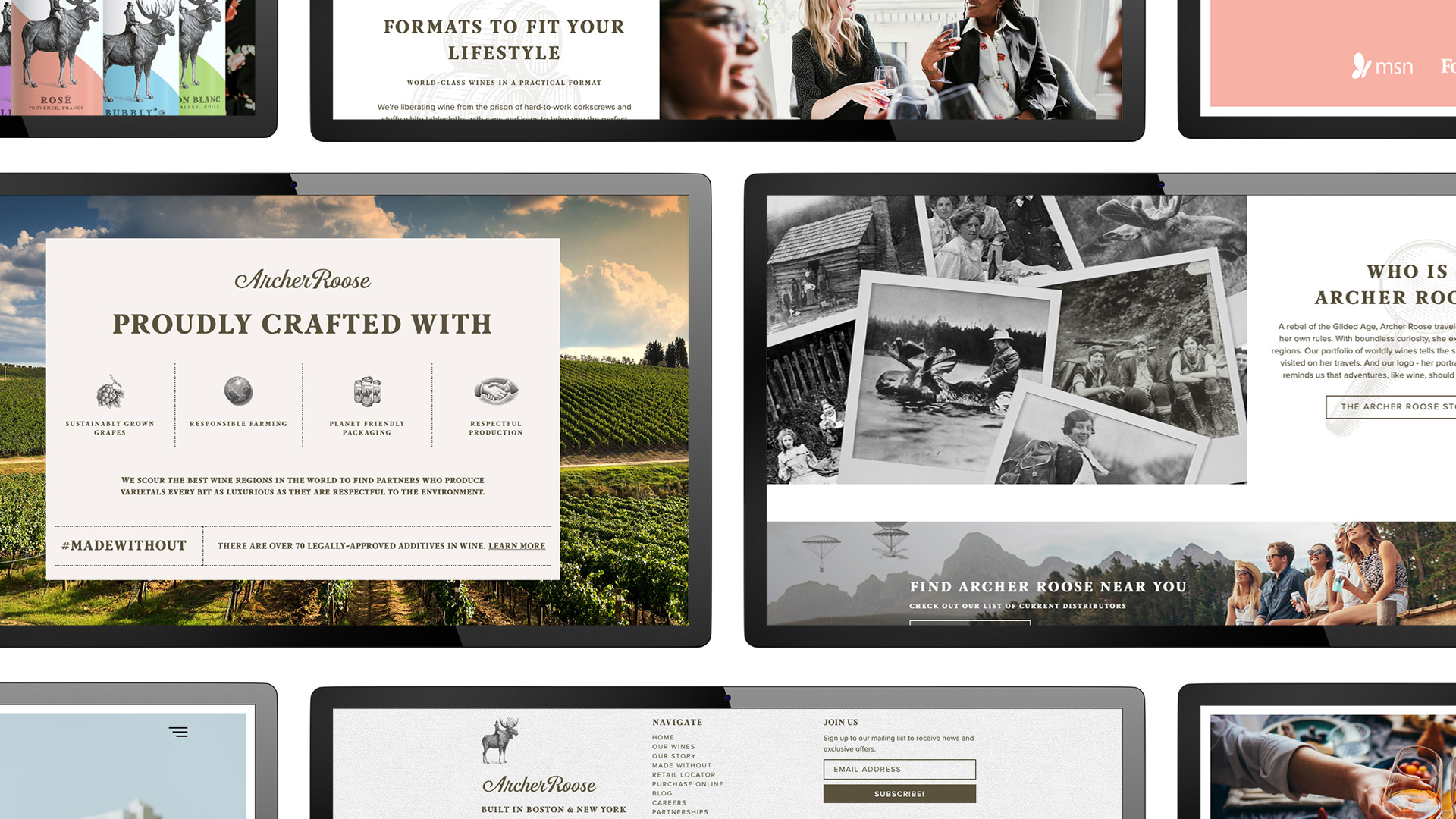 Archer Roose Web Design - Unsung Studio Website Design