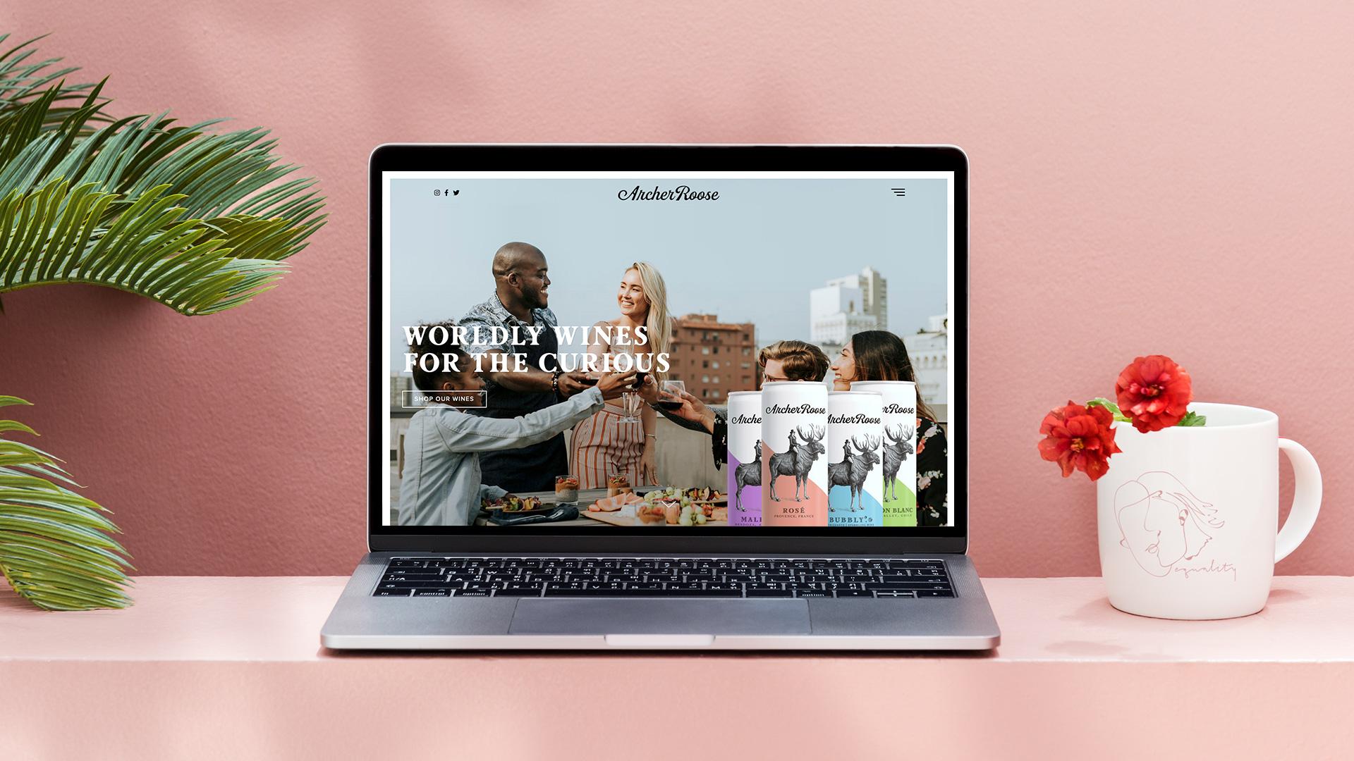 Archer Roose Homepage Design - Unsung Studio Website Design