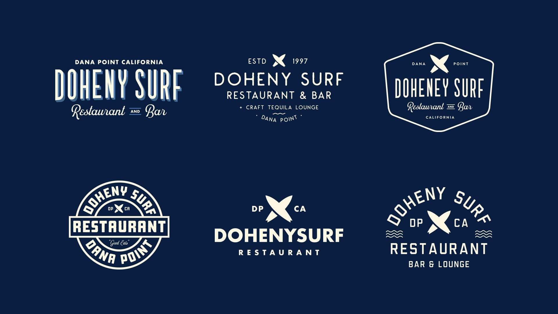 Doheny Surf Restaurant Doubletree Hotel Dana Point - Unsung Studio Branding