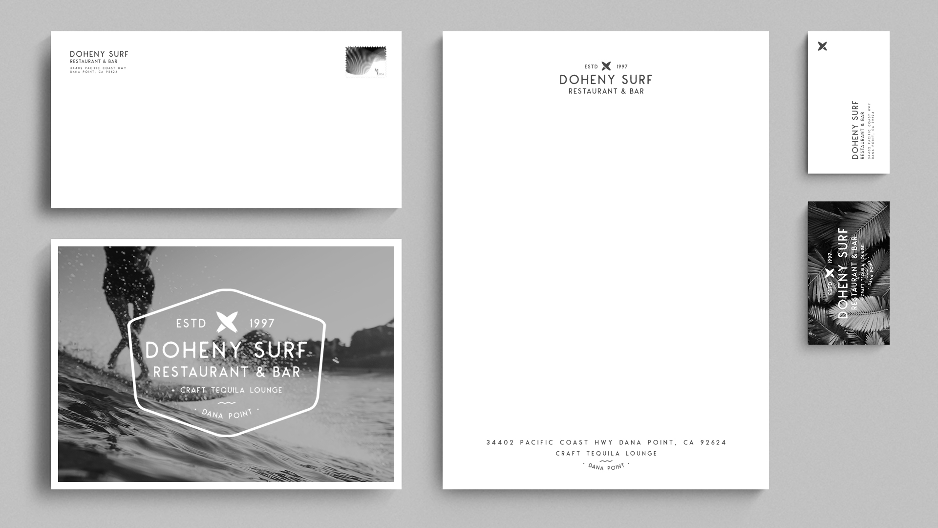 Doheny Surf Restaurant Doubletree Hotel Dana Point Stationery - Unsung Studio Branding