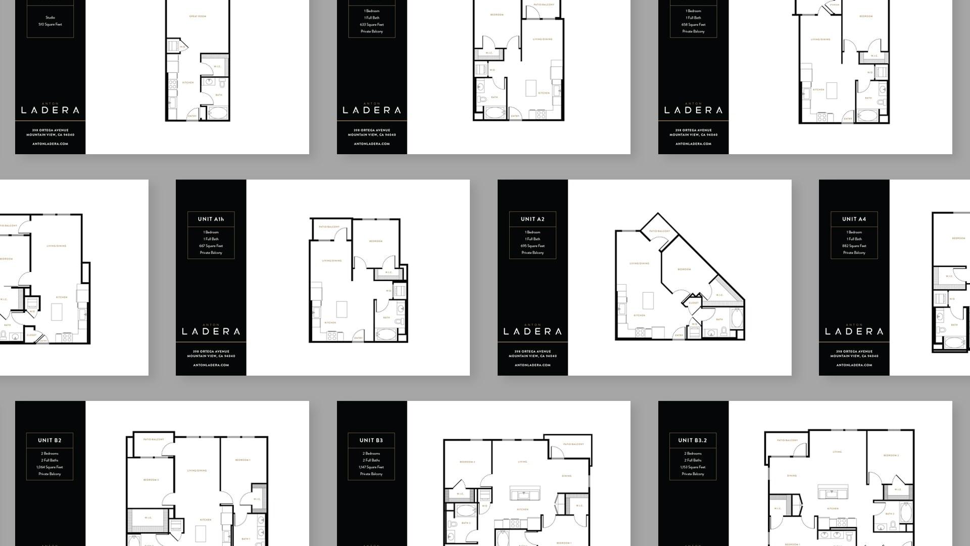 Anton Ladera Floor Plans - Unsung Studio Branding