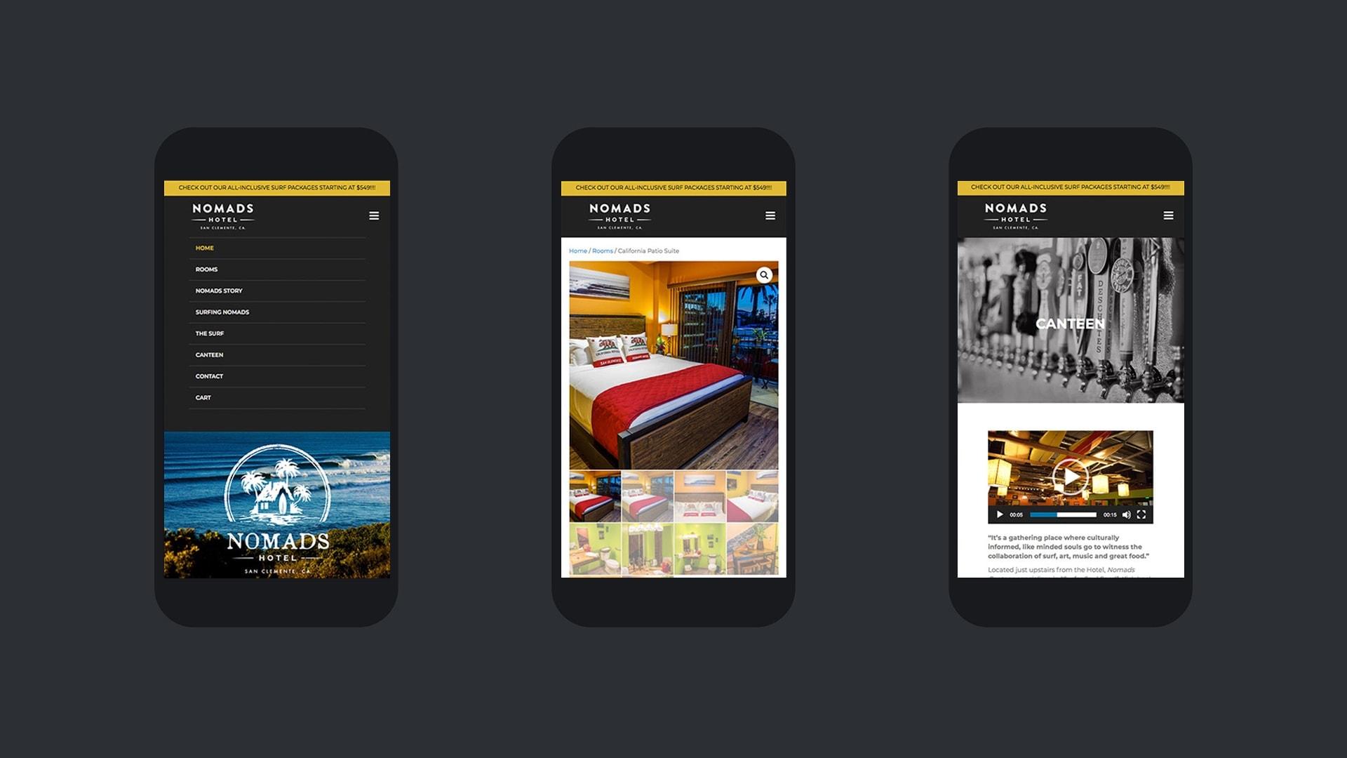 Nomads Hotel San Clemente - Unsung Studio Website Design