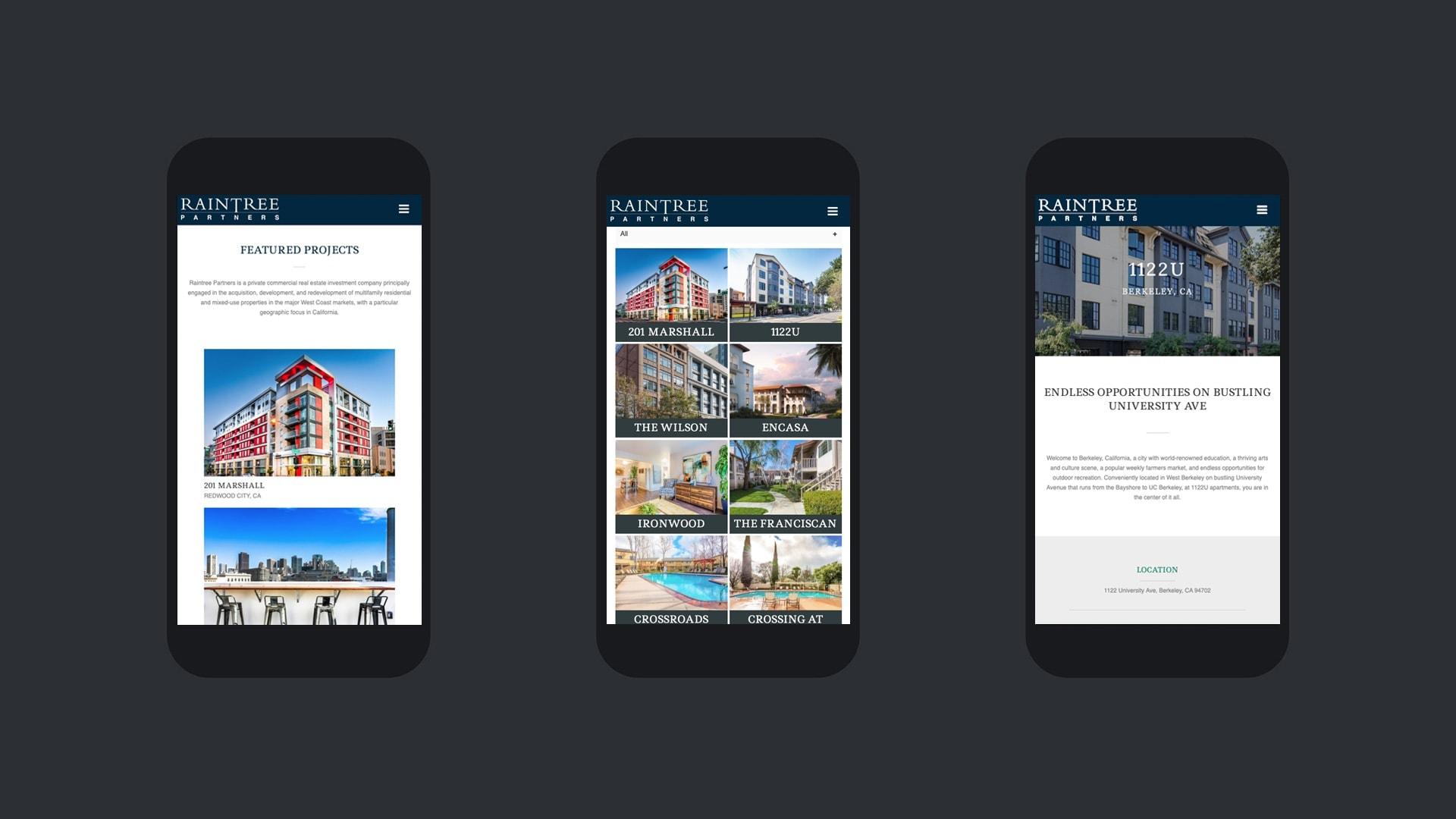 Raintree Partners - Unsung Studio Website Design